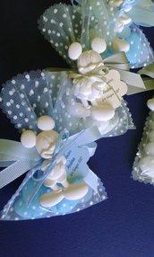 Bomboniera battesimo topolino sacchetto con gessetto profumato