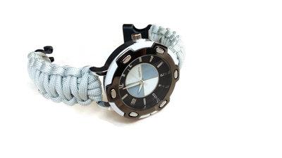 Orologio da polso intrecciato grigio chiaro uomo paracord - Regalo per fidanzato