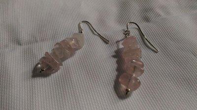 Orecchini in argento 925 e quarzo rosa