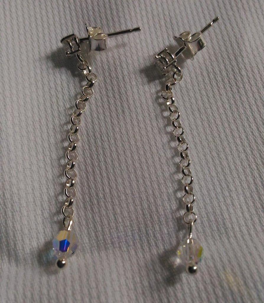 Orecchini in argento 925 con swarovski e zirconi
