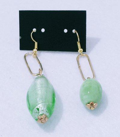 """orecchini pendenti serie limitata """"Green"""" modello C"""