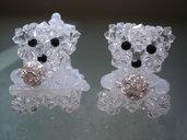 Coppia di orsetti cristallo