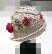 cappellino  a uncinetto