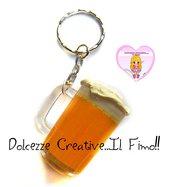 Portachiavi Boccale di birra - miniature kawaii handmade - birra lover