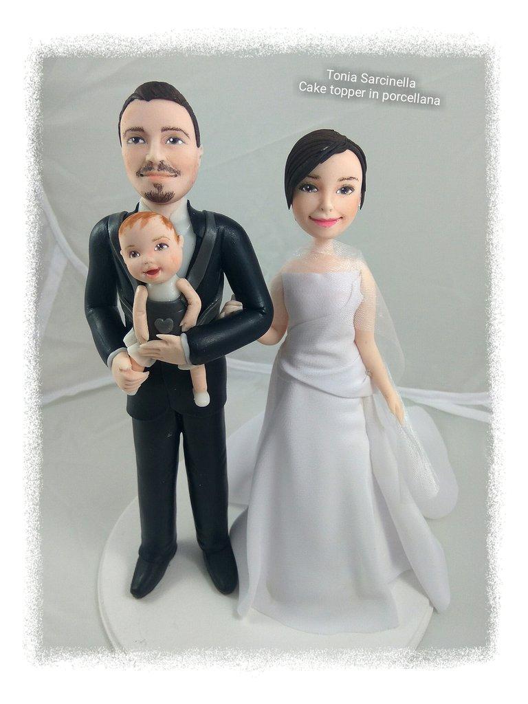 Sposi  con bimba
