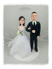 Sposi cake topper caricatura