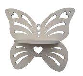Mensola forma di farfalla traforata (legno)