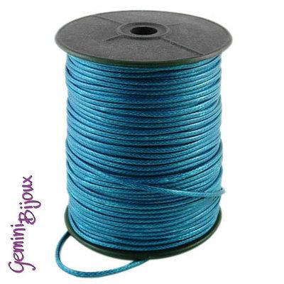 Lotto 1 mt. corda poliestere cerata mm. 2,3 azzurro