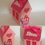 Scatolina scatola scatoline bomboniera porta confetti casetta Masha orso battesimo segnaposto