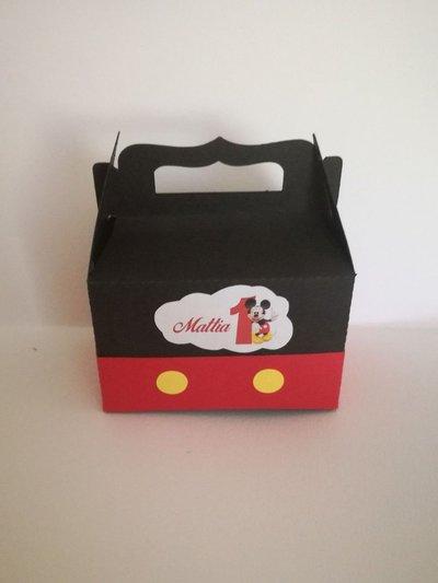 Scatolina scatoline bomboniera confetti minnie topolino compleanno battesimo
