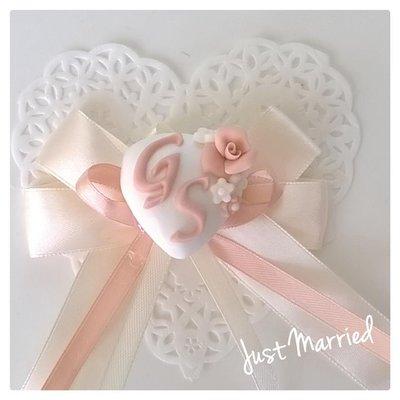 segnaposto per matrimonio, battesimo, confetti decorati, rosa cipria, solo nastri