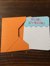 Biglietto buon compleanno bambino bambina con busta abbinata