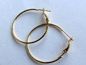 2 Cerchi per orecchini dorato FER26
