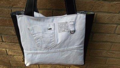 Denim Bag Black and White