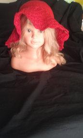 cappello donna uncinetto cotone