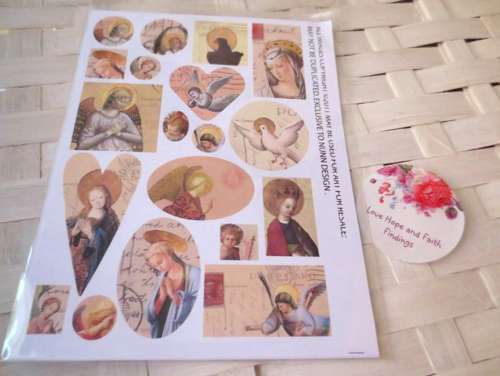 "LOTTO 19 immagini in carta con tema ""Angeli"" (cod.new)"