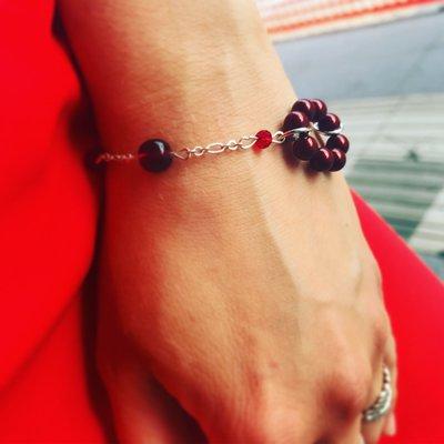 Bracciale cerchio di perle - Bordeaux