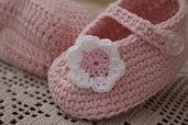 Scarpette neonato. 100% cotone