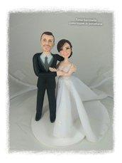 Cake topper sposi abbracciati