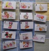 20 bigliettini portaconfetti bomboniera battesimo bambina