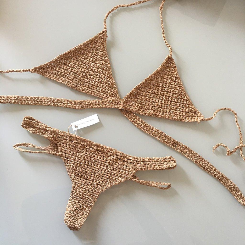 *COMUNICA LA TUA TAGLIA E COLORE*bikini uncinetto ad incrocio