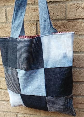 Shopper in Jeans riciclato