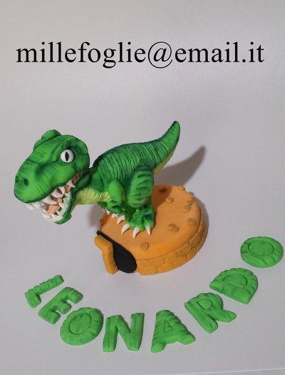 Decorazione/Cake Topper di zucchero, Dinosauro T Rex