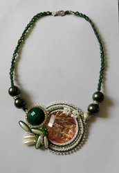 Collana soutache e bead embroidery