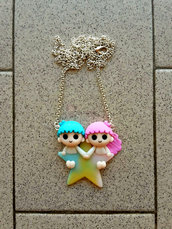 collana con Little Twin Stars su stella fimo
