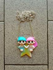 collana con Little Twin Stars su stella fimo