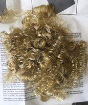 capelli a boccoli color biondo per angeli e bambole -PREZZO AFFARE PER FINE SERIE!!