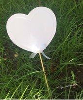 Ventaglio a forma di cuore senza rilievo by Romanticards