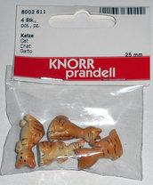 4 gattini miniature per tegole minimondi Knorr Prandell
