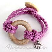 Braccialetto glicine con anello
