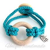 Braccialetto turchese con anello