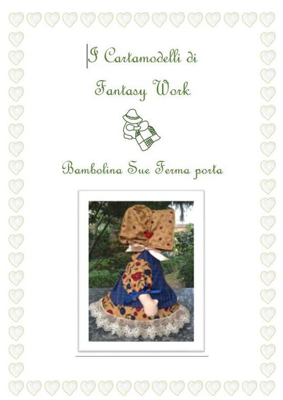 Cartamodello Bambolina Sue ferma porta - versione PDF