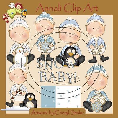 Clip Art per Decoupage e Scrapbooking - Bimbi a Natale - Baby Christmas - IMMAGINI
