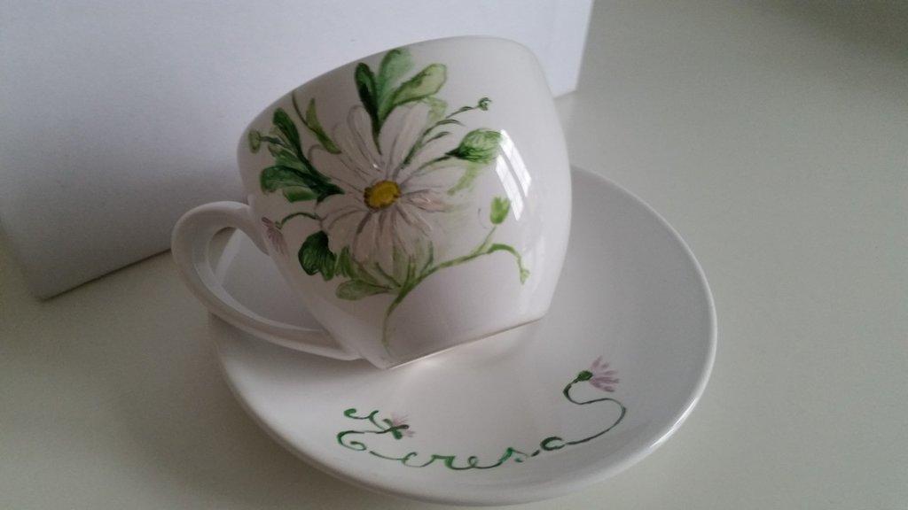 Tazzine da caffe in ceramica decorate a mano e personalizzate