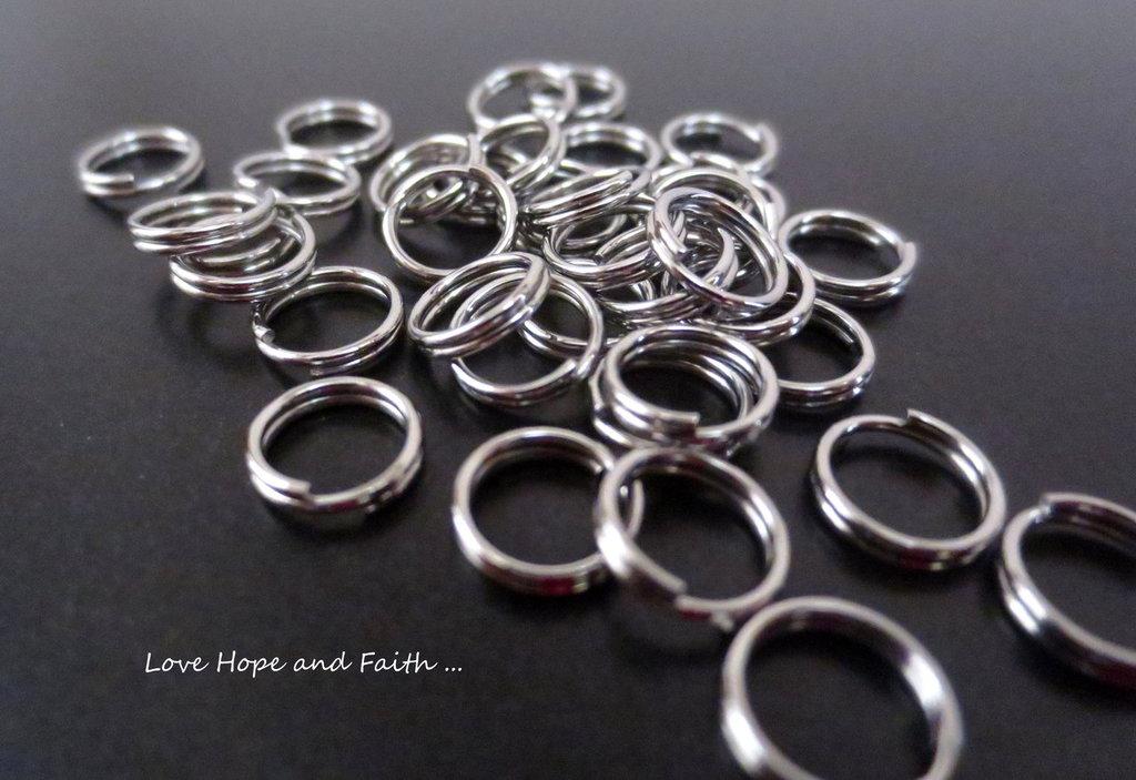LOTTO 100 anellini acciaio inox (5x0,7mm) (cod. inox new)