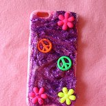 cover iphone floreale peace and love