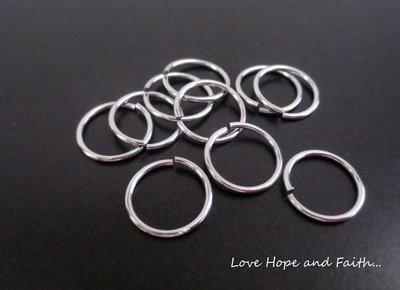 LOTTO 25 anellini aperti acciaio inox (10x1mm) (cod. inox new)