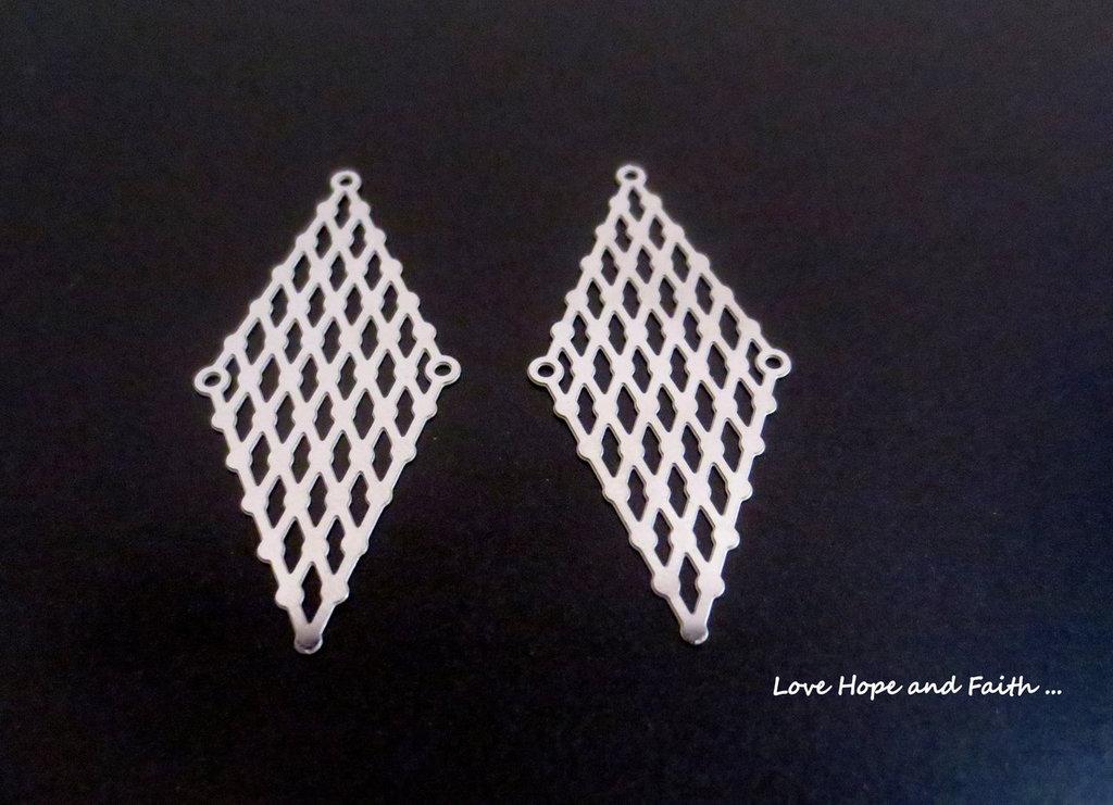 LOTTO 2 chandelier acciaio inox (48x21mm) (cod. inox new)