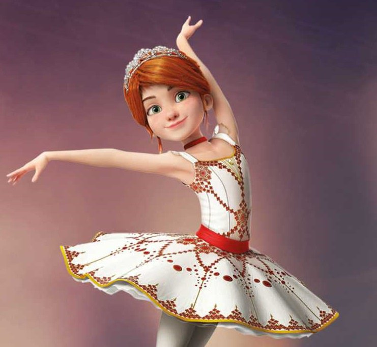 """Decorazione-torta/Cake Topper ispirato al film """"Ballerina"""""""