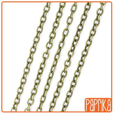 1 metro catena bronzo 3.5x2.5mm
