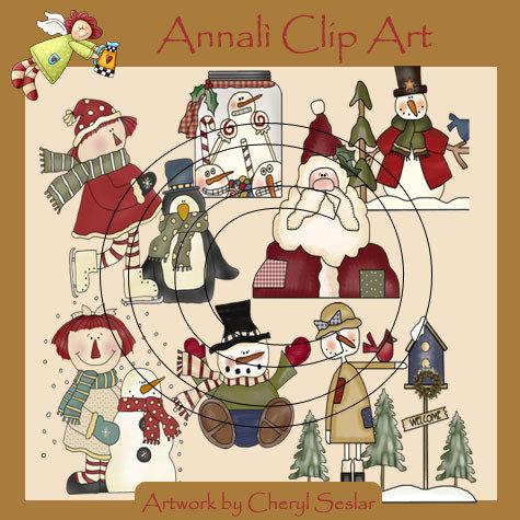 Clip Art per Decoupage e Scrapbooking - Natale - Christmas - IMMAGINI