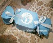 Scatola bomboniera confetti sacchetto battesimo nascita caramella (0,80 al pz)