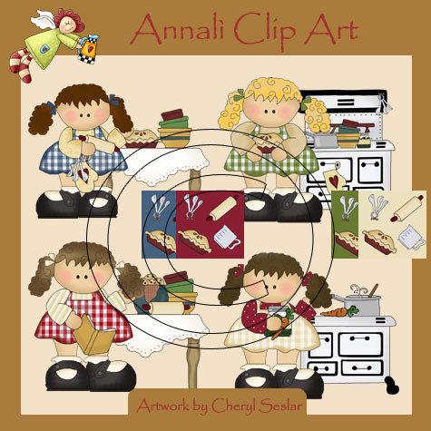 Clip Art per Decoupage e Scrapbooking - Cucina - Kitchen - IMMAGINI