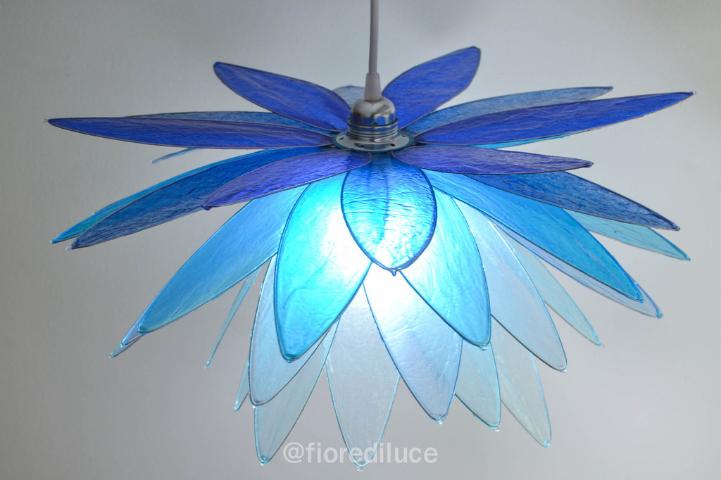 Lampadario Libellula Azzurra