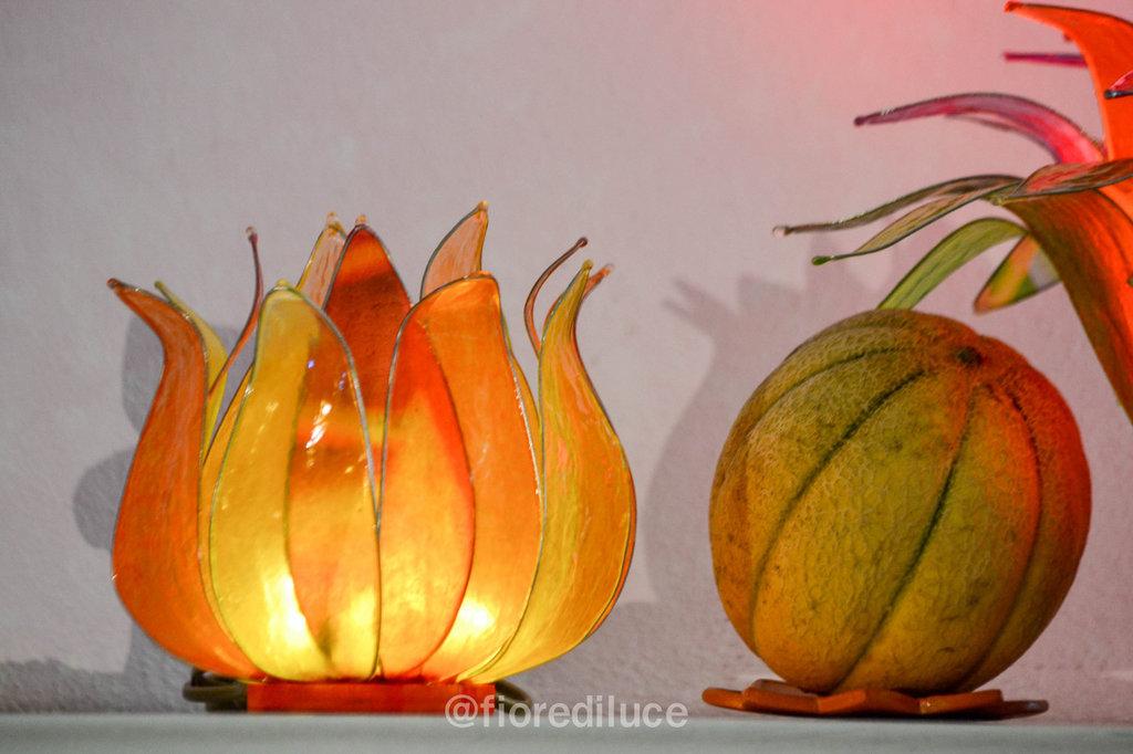Lampada Fiore di Zucca e Melone