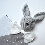 Doudou con testa di coniglietto